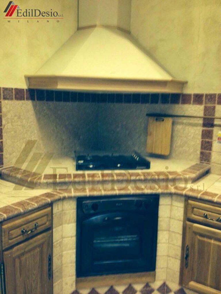 cucina in muratura milano