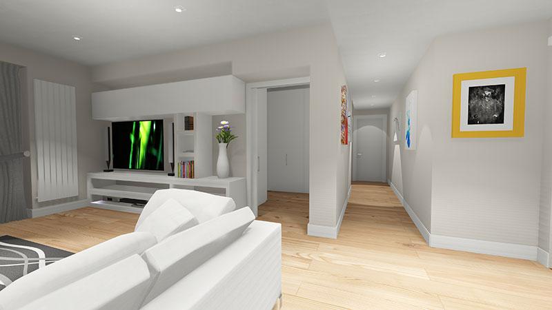 Progettazione Casa 3d : Progettazione d appartamento milano progettazione casa d